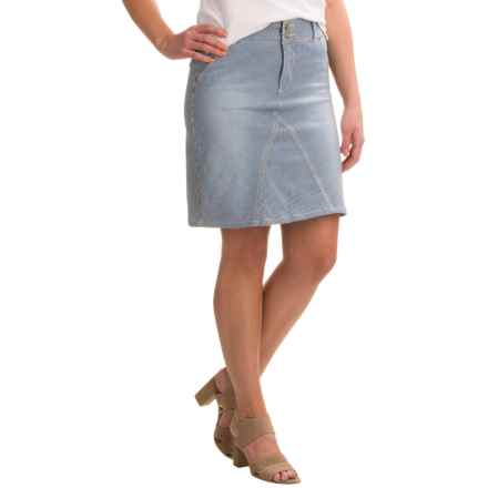NYDJ Ray A-Line Striped Denim Skirt (For Women) in Old West Wash - Closeouts