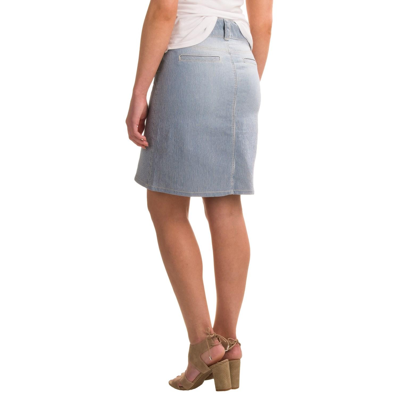 NYDJ Ray A-Line Striped Denim Skirt (For Women)
