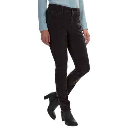 NYDJ Samantha Slim Corduroy Pants (For Women) in Black - Closeouts