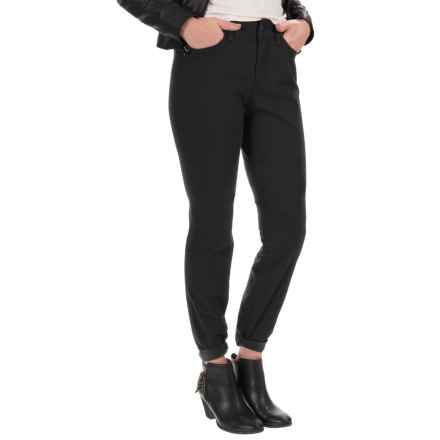 NYDJ Samantha Slim Peached Sateen Pants - Straight Leg (For Women) in Black - Closeouts