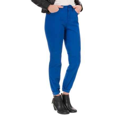 NYDJ Samantha Slim Peached Sateen Pants - Straight Leg (For Women) in True Cobalt - Closeouts