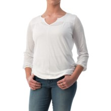 NYDJ Slub Shirt - Long Sleeve (For Women) in Optic White - Closeouts