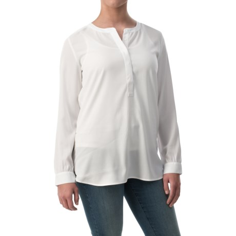 NYDJ Woven Henley Tunic Shirt Long Sleeve (For Women)