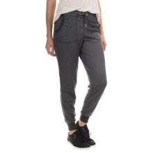 N.Y.L. New York Laundry French Terry Slub Joggers (For Women) in Black - Closeouts
