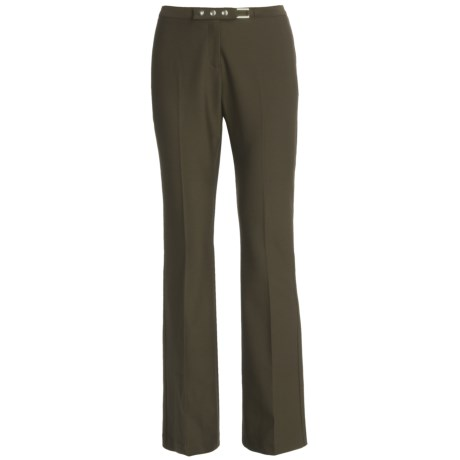NYX by Weekendz Off Stretch Dress Pants (For Women) in Olive