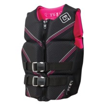 O'Brien Flex V-Back PFD Life Jacket - Type III (For Women) in Black/Pink - Closeouts
