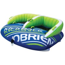 O'Brien Kickback 2-Person Towable Tube in Blue/Green/White - Closeouts