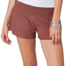 O'Neill Be Free Shorts - Smocked Waist (For Women) in Rust - Closeouts