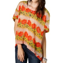 O'Neill Beverly Shirt - Short Sleeve (For Women) in Flower Print - Closeouts