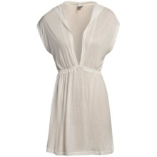 O'Neill Crystal Cover-Up Dress - Hooded, Short Sleeve (For Women) in White - Closeouts