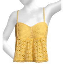 O'Neill Dreamer Crop Top - Cotton Eyelet (For Women) in Gold - Closeouts