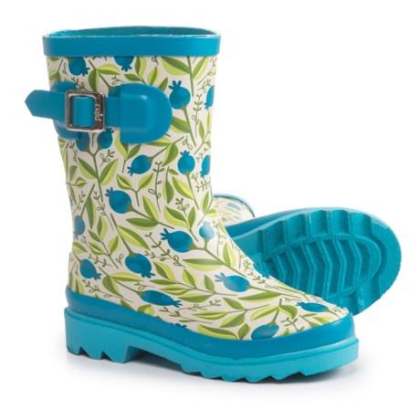 Oaki Buckle Rain Boots - Waterproof (For Girls) in Sweet Blueberries