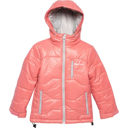 211342b88 Oaki Pink and Gray Puffy Winter Jacket - Insulated (For Girls) in Pink/