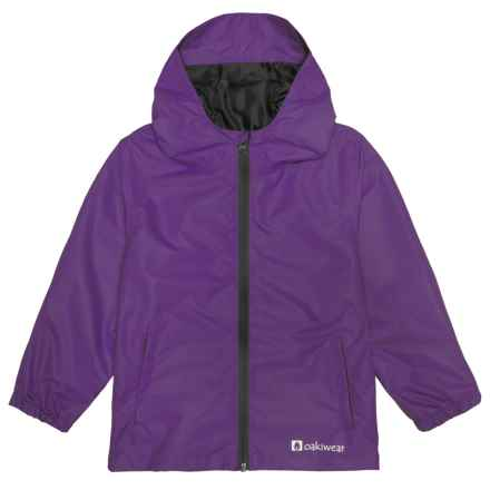 Oaki Rain Jacket - Waterproof (For Little and Big Kids) in Galaxy Purple - Closeouts