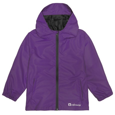 Oaki Rain Jacket - Waterproof (For Little and Big Kids) in Galaxy Purple