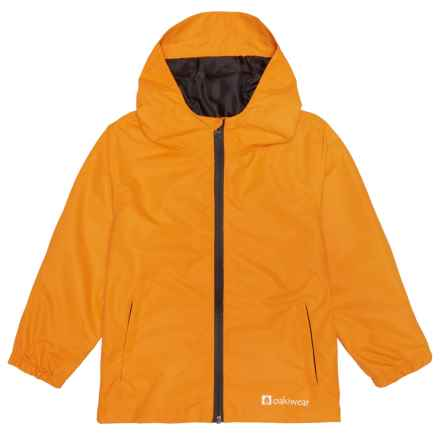 Oaki Rain Jacket - Waterproof (For Little and Big Kids) in Lava Orange - Closeouts