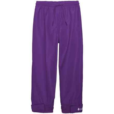 Oaki Rain Pants - Waterproof (For Girls) in Galaxy Purple - Closeouts