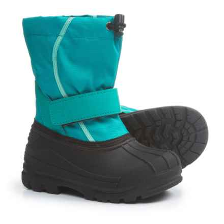 Oaki Touch-Fasten Snow Boots - Waterproof (For Girls) in Teal/Mint - Closeouts