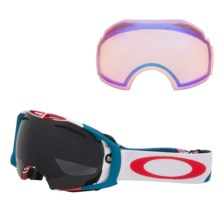 Oakley 2013 Airbrake Snowsport Goggles - Interchangeable in Flight Series/Dark Grey/H.I. Persimmon - Closeouts