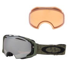 Oakley 2013 Airbrake Snowsport Goggles - Interchangeable in Tagline Gunmetal/Black Rose/Persimmon - Closeouts