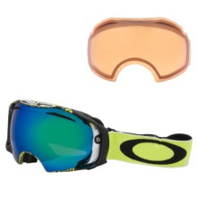 Oakley 2013 Airbrake Snowsport Goggles - Interchangeable in Topography Lime/Jade/Persimmon - Closeouts