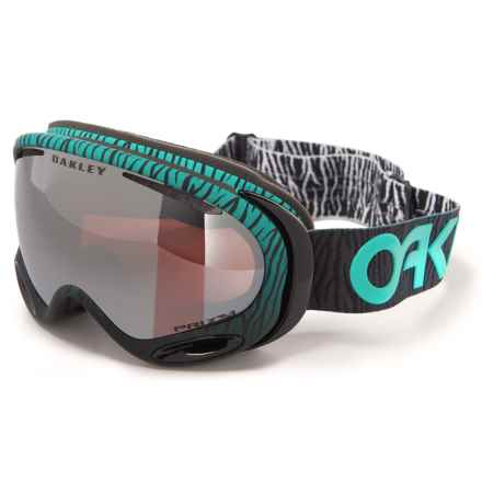Oakley A Frame 2.0 Factory Ski Goggles in Bengal Mint/Dark Grey - Closeouts