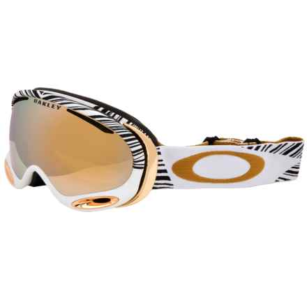 Oakley A Frame 2.0 Signature Ski Goggles - Asia Fit, Iridium Lens in Shaun White White Gold/24K Iridium - Closeouts