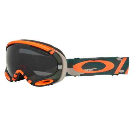 Oakley A-Frame 2.0 Ski Goggles - Asia Fit in Flight Series Warhawk/Dark Grey - Closeouts