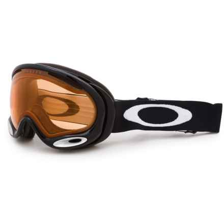 Oakley A-Frame 2.0 Ski Goggles in Jet Black /Persimmon - Closeouts