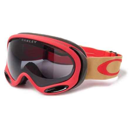 Oakley A Frame 2.0 Ski Goggles in Red/Dark Grey - Closeouts