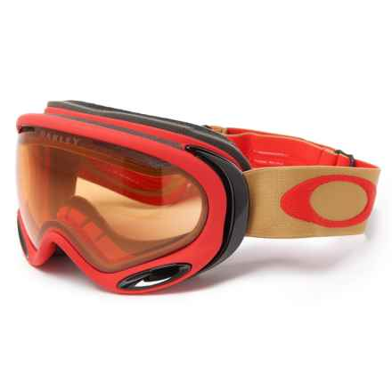 Oakley A Frame 2.0 Ski Goggles in Red/Persimmon - Closeouts