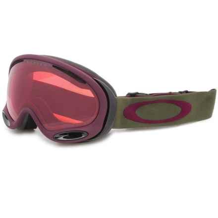 Oakley A-Frame 2.0 Ski Goggles - Prizm® Lens, Asia Fit in Herb Rhone/Prizm Rose - Closeouts
