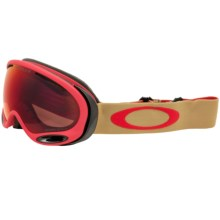 Oakley A Frame 2.0 Ski Goggles - Prizm Lens in Copper Red/Torch Prizm - Closeouts