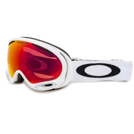 Oakley A Frame 2.0 Ski Goggles - Prizm Lens in Polished White/Prizm Torch - Closeouts