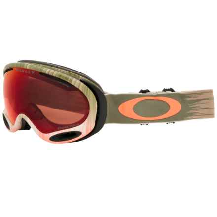 Oakley A Frame 2.0 Ski Goggles - Prizm Lens in Wet Dry Olive Orange/Torch Prizm - Closeouts