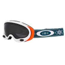 Oakley A-Frame Signature Series Snowsport Goggles (For Women) in Gretchen Bleiler Helga/Dark Grey - Closeouts