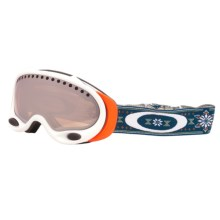 Oakley A-Frame Signature Series Snowsport Goggles - Iridium® Lens (For Women) in Gb Nordic/Black Iridium - Closeouts