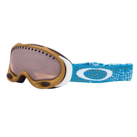 Oakley A-Frame Signature Series Snowsport Goggles - Iridium® Lens (For Women) in Linprecious Metal/Black Iridium