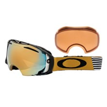 Oakley Airbrake Signature Series Snowsport Goggles - Interchangeable Iridium® Lens in Shaun White Block Stripes Gold/24K Iridium/Persimm - Closeouts