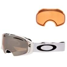 Oakley Airbrake Ski Goggles - Extra Lens in Polished White/Black Iridium-Persimmon - Closeouts