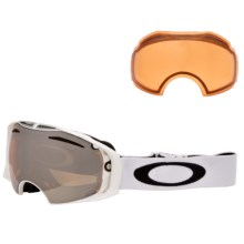 Oakley Airbrake Ski Goggles - Interchangeable in Polished White/Black Iridium-Persimmon - Closeouts