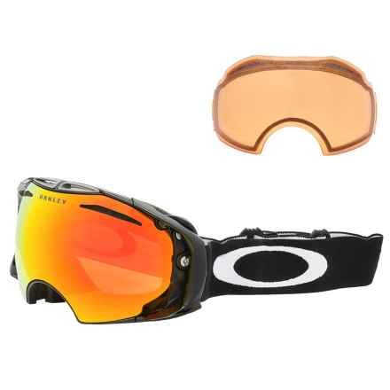 Oakley Airbrake Snow Ski Goggles - Extra Lens in Jet Black/Fire Iridium/Persimmon - Closeouts
