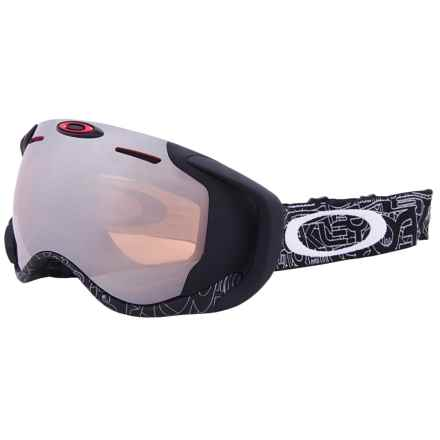 Oakley Airwave 1.5 Ski Goggles in Silver Text 16/Black Iridium/Apple - Closeouts
