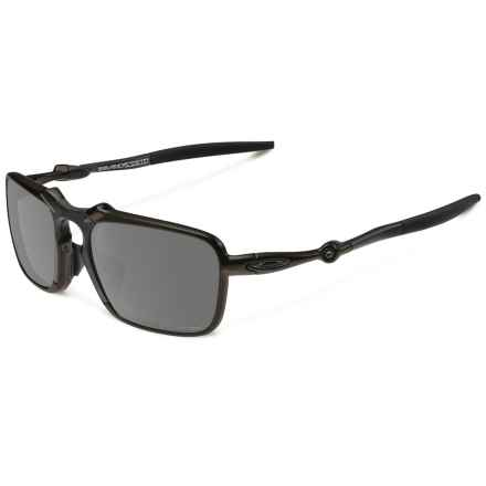 Oakley Badman Sunglasses - Polarized Iridium® Lenses, Asia Fit in Dark Carbon/Black Iridium - Closeouts