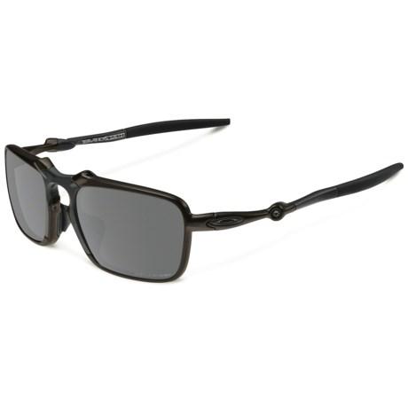 Oakley Badman Sunglasses - Polarized Iridium® Lenses, Asia Fit in Dark Carbon/Black Iridium