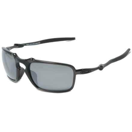 Oakley Badman Sunglasses - Polarized Iridium® Lenses in Dark Carbon/Black Iridium - Closeouts