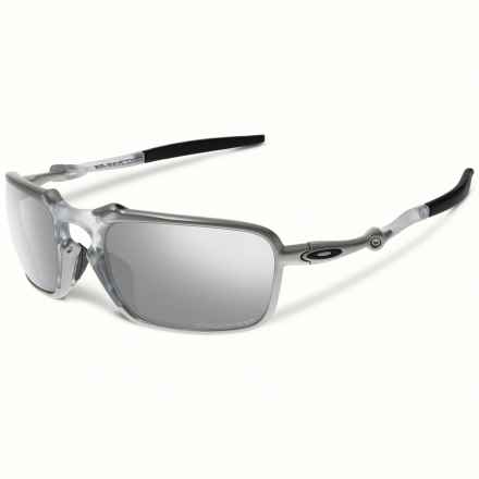 Oakley Badman Sunglasses - Polarized Iridium® Lenses in X Ti/Chrome Iridium - Closeouts