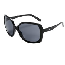 Oakley Beckon Sunglasses (For Women) in Polished Black/Grey - Closeouts