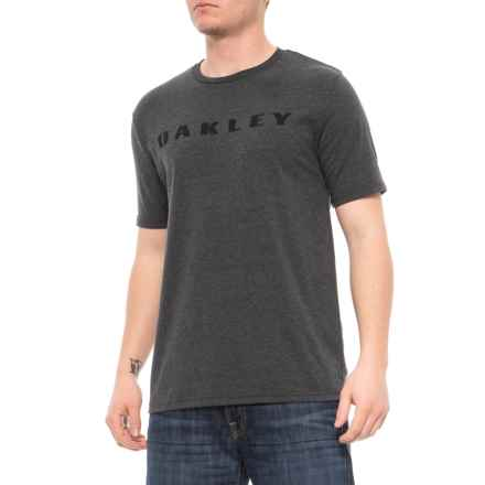 Oakley Burn T-Shirt - Short Sleeve (For Men) in Blackout Light Heather - Closeouts