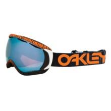 Oakley Canopy Ski Goggles - Prizm Lens in Factory Pilot Bengal Orange/Sapphire Prizm - Closeouts